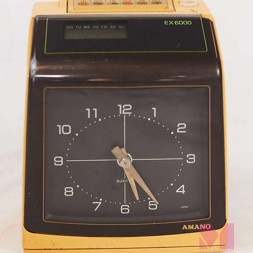 RELOJ/ PONCHADORA EX6000 AMANO CREMA/ MARRON EN ALQUILER