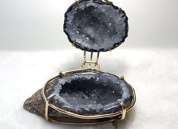 Druzy Agate Geode Jewelry Holder