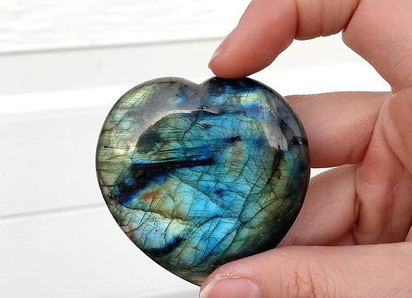 "2.25"" Polished Labradorite Heart"