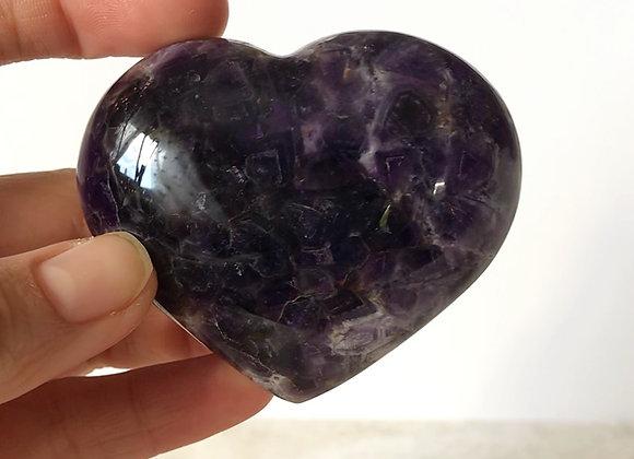 "2.5"" Polished Moroccan Amethyst Heart"