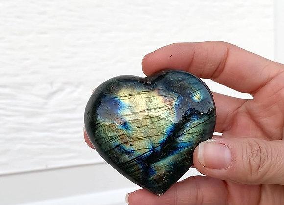 "2.5"" Polished Labradorite Heart"