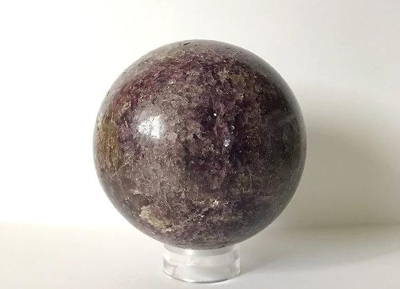 111mm Polished Lepidolite Sphere