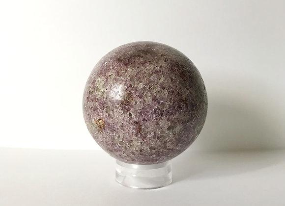 88mm Polished Lepidolite Sphere