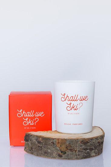 SHALL WE SKI - Bougie rouge