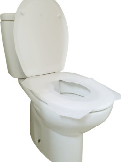 Papeles cubierta para WC, protección para baños públicos.