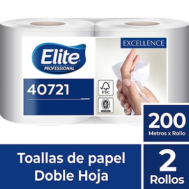 Toalla de papel Elite rollo doble hoja