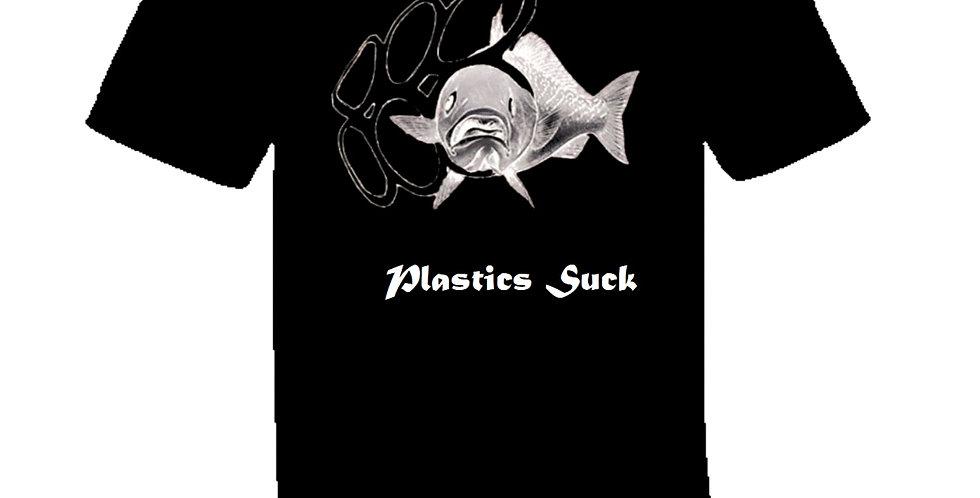 Plastics Suck Black T-Shirt