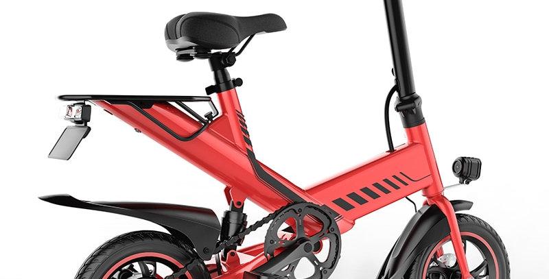 "Smart Electric Cycle 14"" Wheels, Rear Suspension."