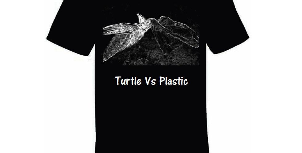 Turtle Vs Plastic Black Organic T-Shirt