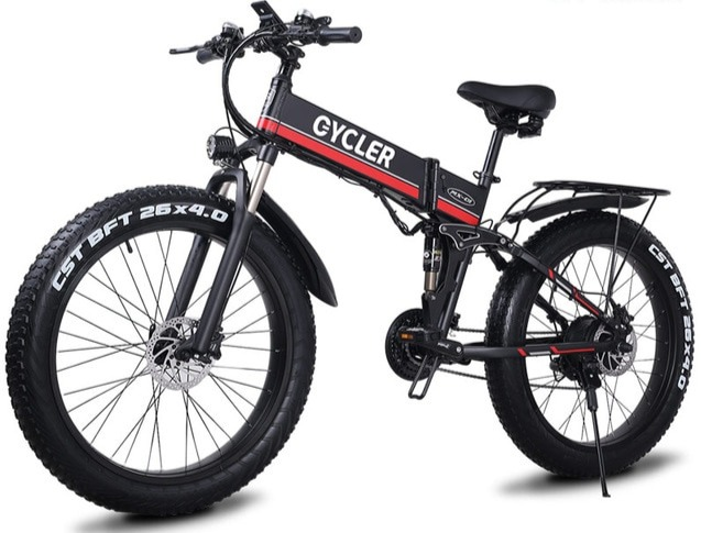 SLMRO Folding Fat Tyre Electric Bike 1000W Motor 48V