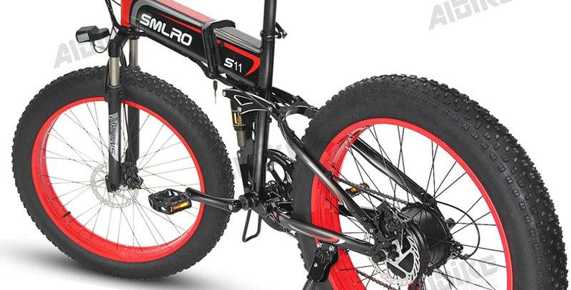 SLMRO Folding Fat Tyre Electric Mountain Bike 1000W Motor 48V