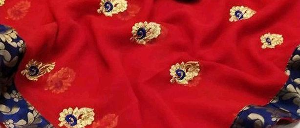 Trendy Georgette Silk Women's Sarees