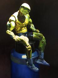 The Rain Man (sitting)