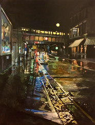 Parsons Green Station, Night
