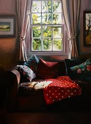 My Sitting Room Window, with dog blanket