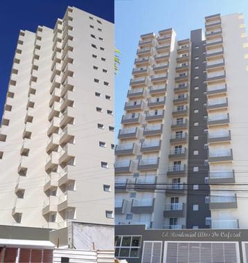 Serviços de grande porte, prédio antes e depois.