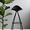 Thumbnail: Onda Stool - black skin white shell, shiny chrome legs