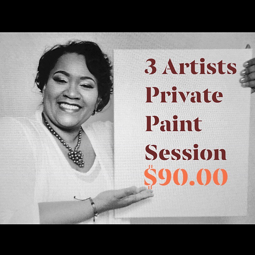 3 Artists Private Paint Party Session