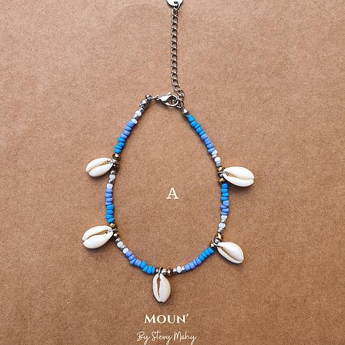 """Bracelet de cheville """"MULTI-CAURIS"""""""