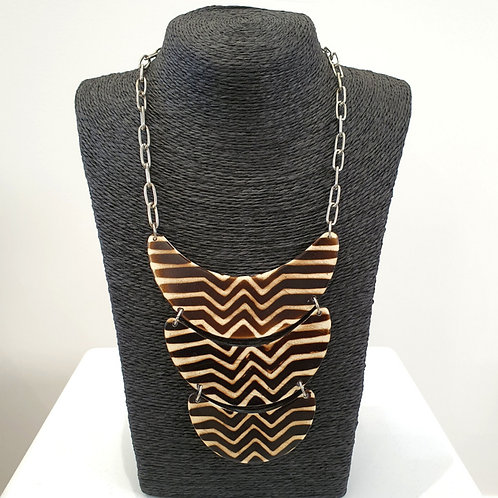 "Collier 3 rangs ""ZEBRA"""