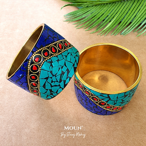 "Bracelet Manchette Bronze ""AMMA"""