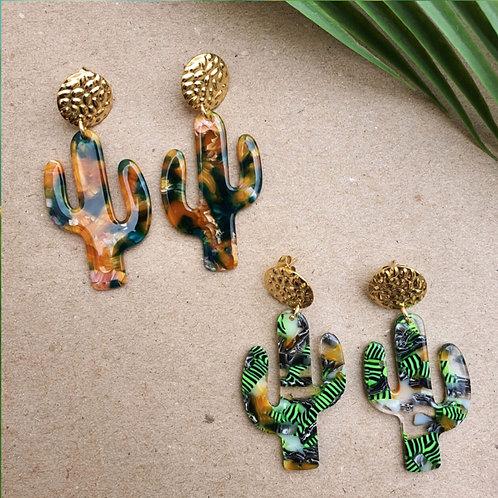 """Pendants d'oreille """"Cactus"""""""