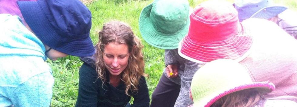 Amy teaching children