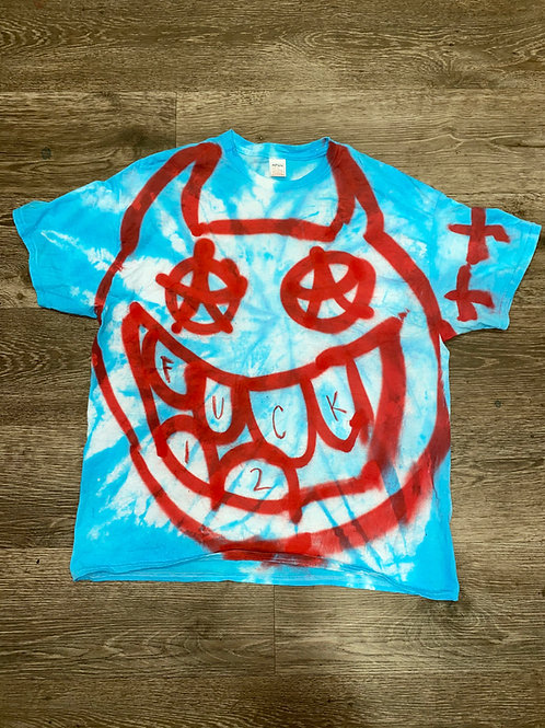 Big Face Demon Tie Dye Tee