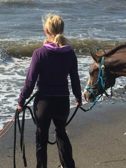 Diegos første møde med stranden.