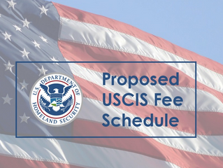 U.S. Citizenship and Immigration Services Fee Schedule
