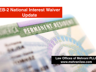 New National Interest Waiver Rule