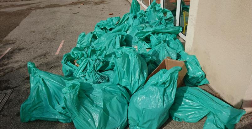 29/09 : Ecole du Bourg - Ramassage déchets sauvages