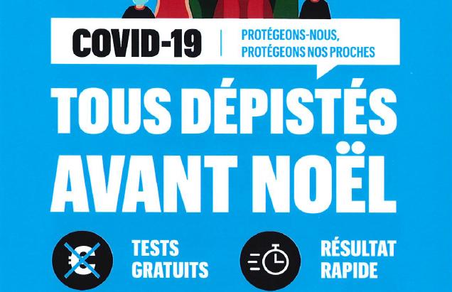 Région Rhône-Alpes : Dépistage COVID