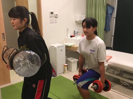 体幹トレーニング。