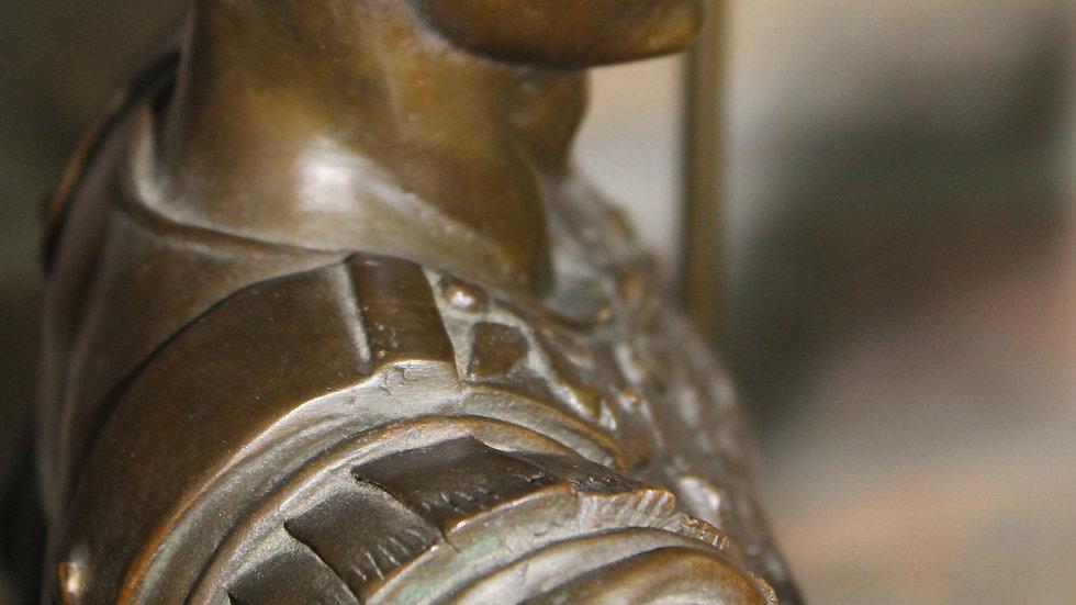 Bronzeskulptur des Augustus von Primaporta um 1900