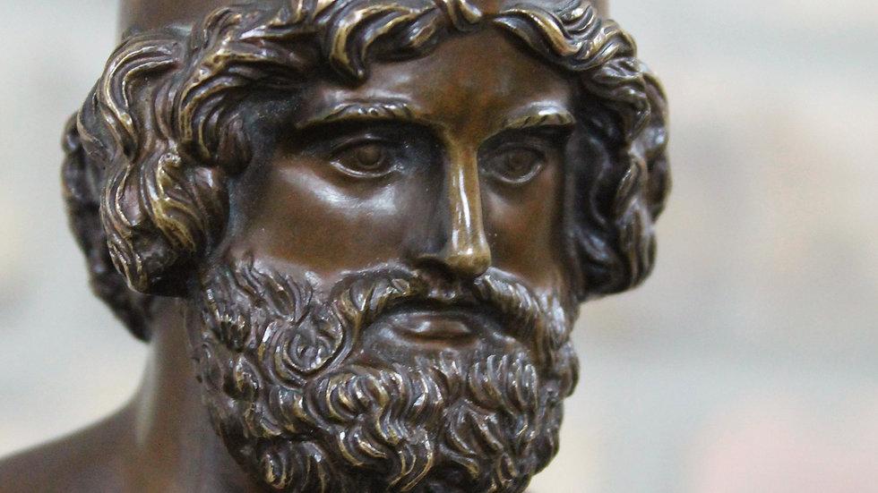 Bronzeskulptur des Hephaistos nach Berthel Thorwaldsen um 1880