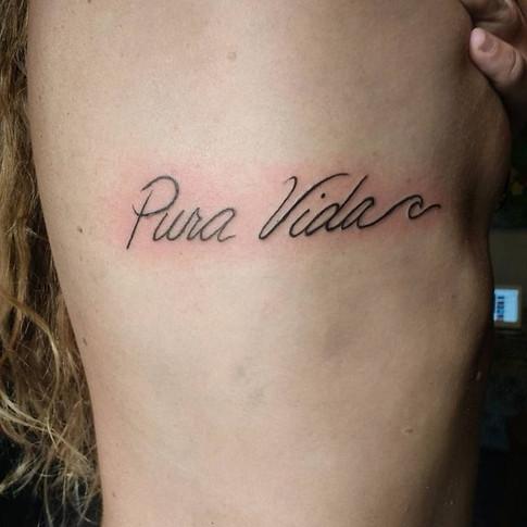 pura vida wave tattoo
