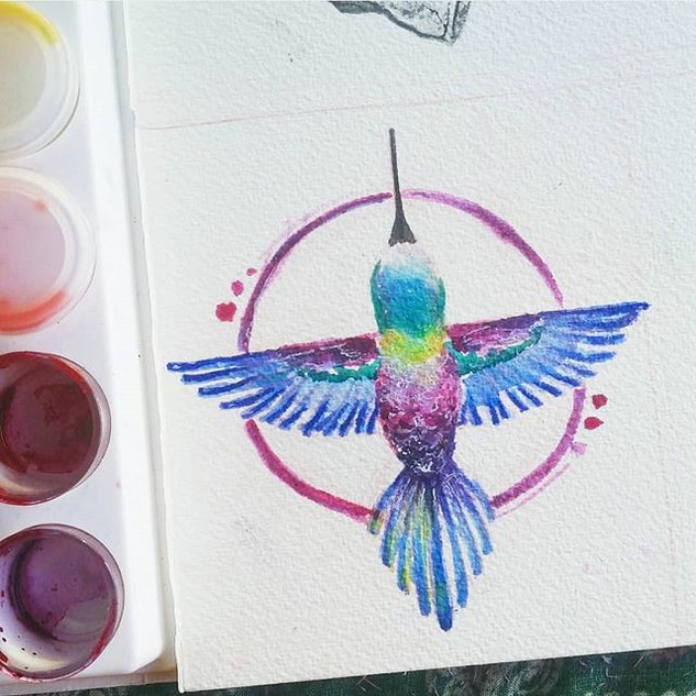 Hummingbird love