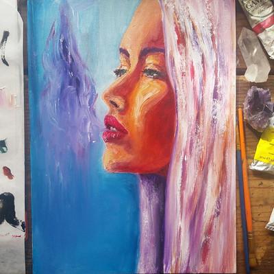 Spirit high -oil painting