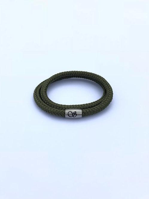 Handgefertigtes Magnetarmband 6mm OLIVEGRÜN