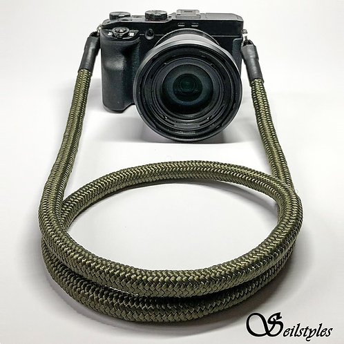 """Kameraseil Trage/Schultergurt für alle Kamerahersteller """"Farbe olivegrün"""" 10mm"""