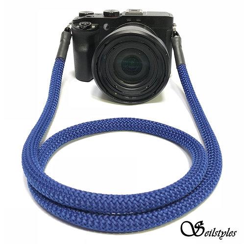Kameraseil Trage/Schultergurt für alle Kamerahersteller Farbe kräftigs blau 10mm