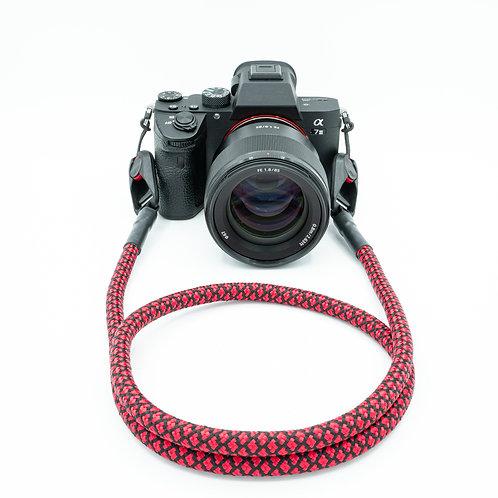 """Kameraseil Trage/Schultergurt für alle Kamerahersteller""""Farbe schwarz/rot"""