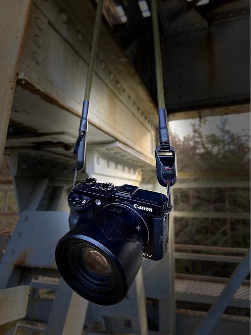 """Kameraseil Trage/Schultergurt für alle Kamerahersteller""""olivegrün 8mm"""""""