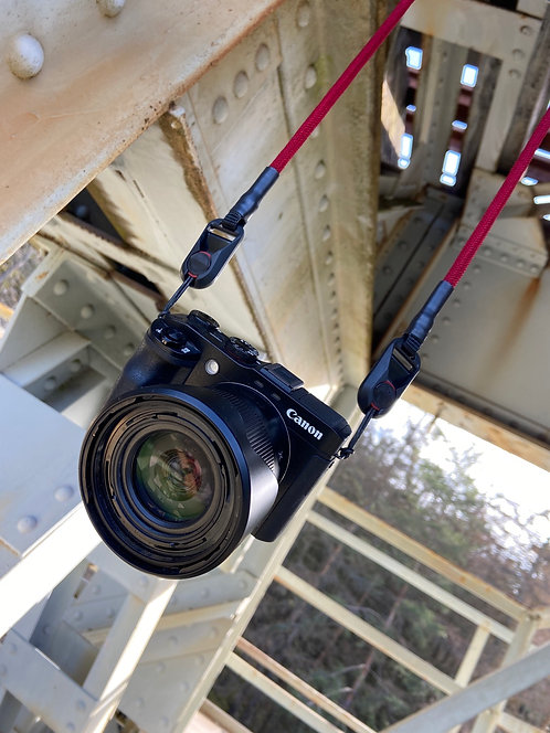 """Kameraseil Trage/Schultergurt für alle Kamerahersteller""""dunkelrot 8mm"""""""