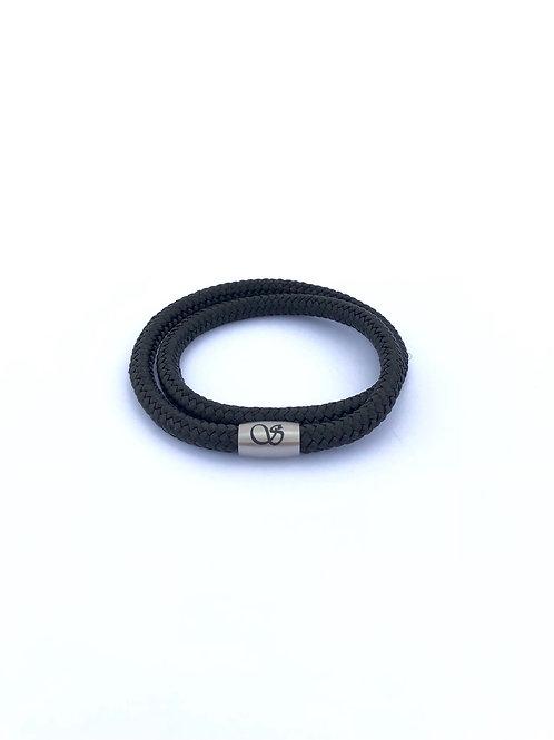 Handgefertigtes Magnetarmband 6mm SCHWARZ