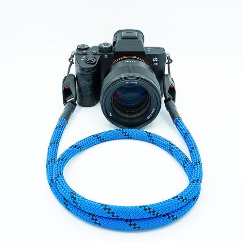 """Kameraseil Trage/Schultergurt für alle Kamerahersteller Farbe """"blau/schwarz"""""""