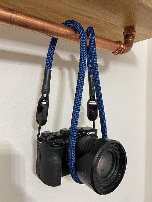 """Kameraseil Trage/Schultergurt für alle Kamerahersteller""""schwarz/blau"""""""