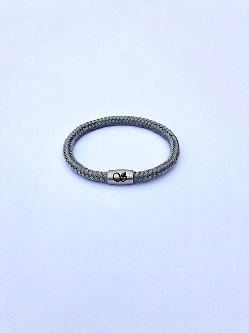 Handgefertigtes Magnetarmband 6mm GRAU
