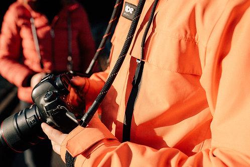 """Kameraseil Trage/Schultergurt für alle Kamerahersteller""""Farbe schwarz/orange"""